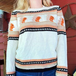 Cotton On Knit Squirrel Sweater!
